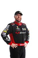Feb 8, 2017; Pomona, CA, USA; NHRA top fuel driver Shawn Langdon poses for a portrait during media day at Auto Club Raceway at Pomona. Mandatory Credit: Mark J. Rebilas-USA TODAY Sports
