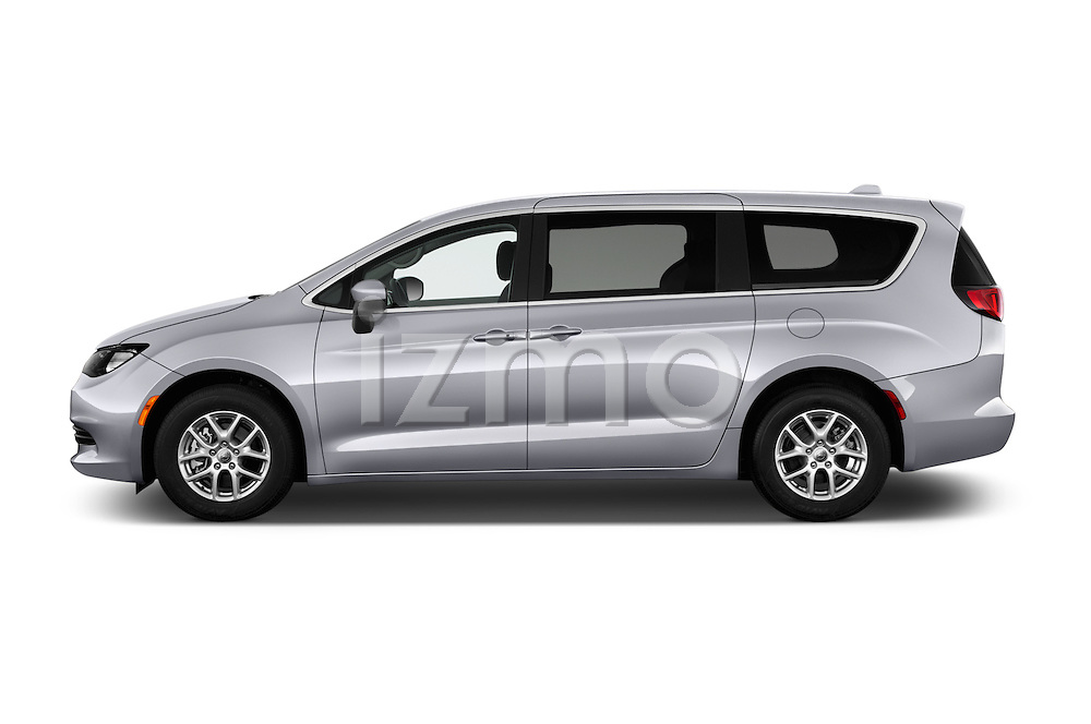 Car Driver side profile view of a 2017 Chrysler Pacifica LX 5 Door Minivan Side View