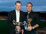 Muirton Park Travel Club Player of the Year Award to Lee Croft presented by Daryl Scott.Picture by Graeme Hart..Copyright Perthshire Picture Agency.Tel: 01738 623350  Mobile: 07990 594431