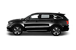 Car Driver side profile view of a 2021 KIA Sorento-Hybride Sense 5 Door SUV Side View