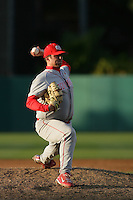 March 7 2010: Jason Oatman of University of New Mexico during game against USC at Dedeaux Field in Los Angeles,CA.  Photo by Larry Goren/Four Seam Images