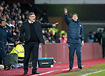 Hearts v St Johnstone…03.02.18…  Tynecastle…  SPFL<br />Tommy Wright and Craig Levein shout instructions<br />Picture by Graeme Hart. <br />Copyright Perthshire Picture Agency<br />Tel: 01738 623350  Mobile: 07990 594431