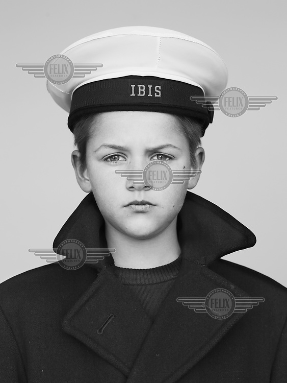 Keano, registration number 272, a pupil at the Royal IBIS School (Koninklijk Werk IBIS) which was founded in 1906 by Prince Albert of Belgium to provide education and training for orphans from the fishing industry. The modern school offers places to children from socially challenging backgrounds. Their Sunday uniforms reveal the school's continued maritime links.