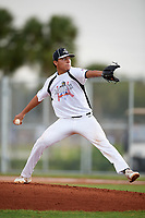 Alberto Gonzalez (5) while playing for Ohio Warhawks based out of Fairborn, Ohio during the WWBA World Championship at the Roger Dean Complex on October 21, 2017 in Jupiter, Florida.  Alberto Gonzalez is a pitcher / outfielder from Laredo, Texas who attends John B Alexander High School.  (Mike Janes/Four Seam Images)