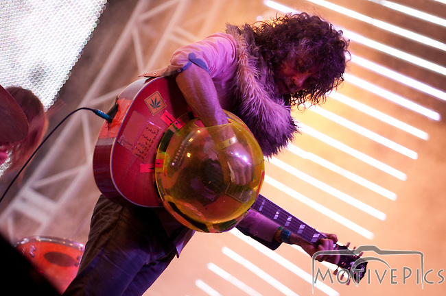 The Flaming Lips playing the Stageasaurs Rex stage at the First Annual Kanrocksas Music Festival.