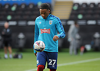 Huddersfield Town's Romoney Crichlow-Noble during the pre-match warm-up <br /> <br /> Photographer Ian Cook/CameraSport<br /> <br /> The EFL Sky Bet Championship - Swansea City v Huddersfield Town - Saturday 17th October 2020 - Liberty Stadium - Swansea<br /> <br /> World Copyright © 2020 CameraSport. All rights reserved. 43 Linden Ave. Countesthorpe. Leicester. England. LE8 5PG - Tel: +44 (0) 116 277 4147 - admin@camerasport.com - www.camerasport.com