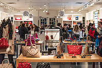 Busy Coach retail store, USA.
