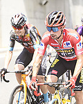Race leader Primoz Roglic (SLO) Jumbo-Visma safely in the peloton during Stage 8 of La Vuelta d'Espana 2021, running 173.7km from Santa Pola to La Manga del Mar Menor, Spain. 21st August 2021.     <br /> Picture: Charly Lopez/Unipublic | Cyclefile<br /> <br /> All photos usage must carry mandatory copyright credit (© Cyclefile | Unipublic/Charly Lopez)