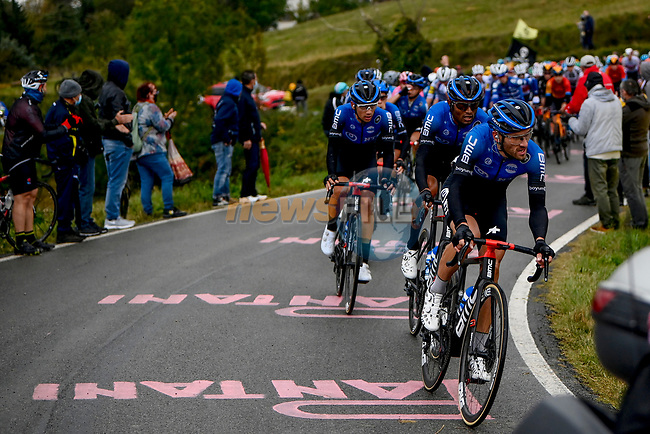 The peloton led by NTT Pro Cycling during Stage 12 of the 103rd edition of the Giro d'Italia 2020 running 204km from Cesenatico to Cesenatico, Italy. 15th October 2020.  <br /> Picture: LaPresse/Fabio Ferrari | Cyclefile<br /> <br /> All photos usage must carry mandatory copyright credit (© Cyclefile | LaPresse/Fabio Ferrari)