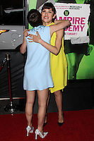"""LOS ANGELES, CA - FEBRUARY 04: Sami Gayle, Olga Kurylenko at the Los Angeles Premiere Of The Weinstein Company's """"Vampire Academy"""" held at Regal Cinemas L.A. Live on February 4, 2014 in Los Angeles, California. (Photo by Xavier Collin/Celebrity Monitor)"""