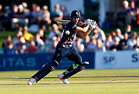 Ollie Robertson hits out for Kent during Kent Spitfires vs Hampshire Hawks, Vitality Blast T20 Cricket at The Spitfire Ground on 9th June 2021
