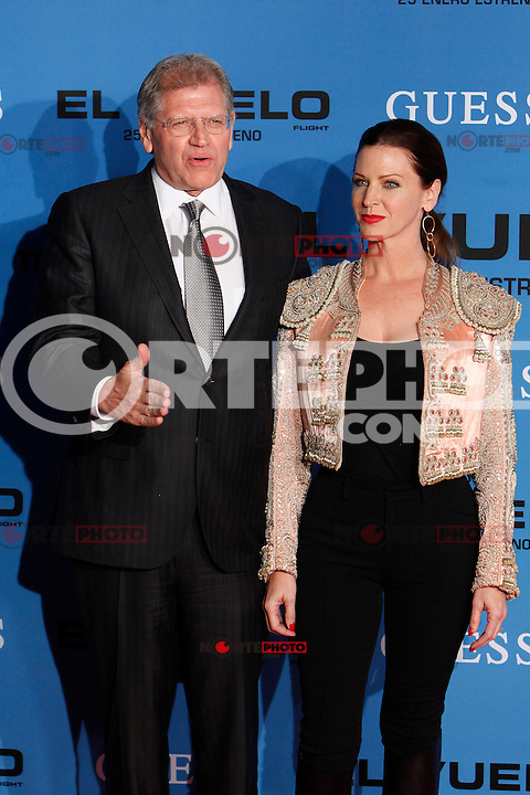 Director Robert Zemeckis and Leslie Zemeckis attends the 'Flight' (El Vuelo) premiere at the Capitol cinema. January 22, 2013. (ALTERPHOTOS/Caro Marin) /NortePhoto