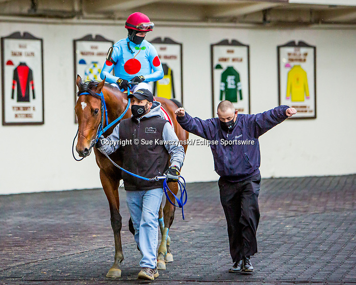 JAN 01, 2021 : Capo Kane with Dylan Davis, wins the Jerome Stakes, for 3 year olds, earning 10 Kentucky Derby points at Aqueduct Racetrack, Ozone Park, NY. Sue Kawczynski-Eclipse Sportswire-CSM
