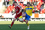 Aberdeen v St Johnstone....19.02.12   SPL.Jody Morris and Mitch Megginson.Picture by Graeme Hart..Copyright Perthshire Picture Agency.Tel: 01738 623350  Mobile: 07990 594431
