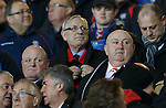 David Leggat in the directors box with Mark Dingwall and Craig Houston