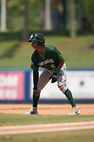 Daytona Tortugas Lorenzo Cedrola (5) leads off first base during a Florida State League game against the St. Lucie Mets on August 11, 2019 at First Data Field in St. Lucie, Florida.  Daytona defeated St. Lucie 7-4.  (Mike Janes/Four Seam Images)