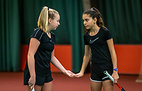 Wateringen, The Netherlands, December 15,  2019, De Rhijenhof , NOJK juniors doubles 12/14/16  years, Britt Du Pree (NED) and Lina Ilahi (NED) (R)<br /> Photo: www.tennisimages.com/Henk Koster