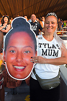 Tyla's mum. Day two of the 2020 HSBC World Sevens Series Hamilton at FMG Stadium in Hamilton, New Zealand on Sunday, 26 January 2020. Photo: Dave Lintott / lintottphoto.co.nz