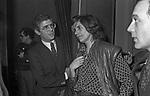 VISITA NEI CAMERINI SUSAN SONTAG E DINO TRAPPETTI<br /> ADRIANA ASTI - PRIMA AL TEATRO ELISEO ROMA 12/1980