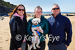 Enjoying a stroll in Ballybunion on Sunday, l to r: Theresa, Shauna and Sean Curtin and Ollie the dog.