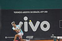 SÃO PAULO, SP 05.03.2017 - BRASIL OPEN-2017 – O Tenista uruguaio Pablo Cuevas durante partida contra  o tenista Espanhol Alberto Ramos Vinolas na final do Brasil Open 2017, no Esporte Clube Pinheiros, zona oeste da cidade de São Paulo, na tarde deste domingo,05. (Foto: Darcio Nunciatelli / Brazil Photo Press)