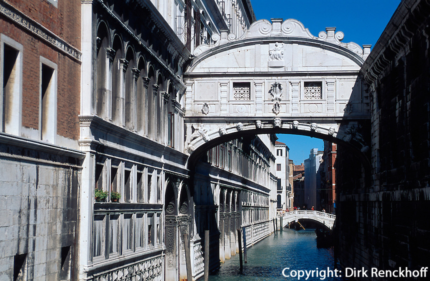 Seufzerbrücke, Venedig,  Venetien, Italien, Unesco-Weltkulturerbe