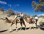 Spanien, Kanarische Inseln, Gran Canaria, Playa de Maspalomas, Dromedar reiten in den Duenen | Spain, Canary Island, Gran Canaria, Playa de Maspalomas, camel ride, dromedary ride