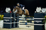 Max Kuhner of Austria riding PSG Future in action in the the Longines Speed Challenge during the Longines Masters of Hong Kong at AsiaWorld-Expo on 10 February 2018, in Hong Kong, Hong Kong. Photo by Ian Walton / Power Sport Images