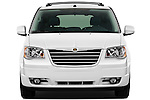 Straight front view of a 2010 Chrysler Town and Country Touring
