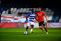 21st April 2021; Kenilworth Road, Luton, Bedfordshire, England; English Football League Championship Football, Luton Town versus Reading; Andy Yiadom of Reading against Ryan Tunnicliffe of Luton Town