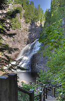 Hikers staircase leads down to the Caribou River and the Falls.