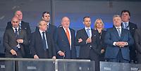 26.05.2018,  Football UEFA Champions League Finale 2018, Real Madrid - FC Liverpool, Olympiastadium Kiew (Ukraine). ehemalige spanische Koenig Juan Carlos (3vl.)Arm of  UEFA president Aleksander Ceferin (4vr.) Politik. Ukraine. Der ukrainische Praesident Petro Oleksijowytsch Poroschenko, Staatspraesident. <br />  *** Local Caption *** © pixathlon<br /> <br /> Contact: +49-40-22 63 02 60 , info@pixathlon.de