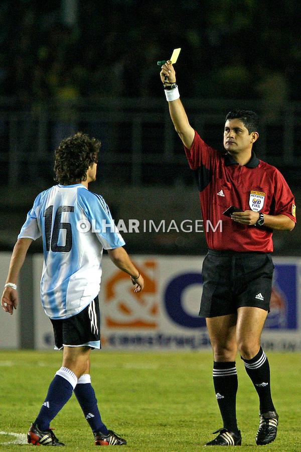 Jogo de futebol entre seleção brasileira e argentinos. MG. 2004. Foto de Daniel Augusto Jr.