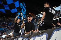 SAN JOSE, CA - SEPTEMBER 4: San Jose Ultras during a game between Colorado Rapids and San Jose Earthquakes at PayPal Park on September 4, 2021 in San Jose, California.