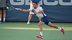 Victor Estrella Burgos (DOM) loses to John Isner (USA)  6-3, 7-5 at the Citi Open in Washington, DC,  on August 5, 2015.