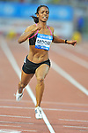 LaShauntea Moore of USA wins the women's 100m event during the IAAF Diamond League in Rome's Olympic Stadium on June 10, 2010.