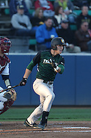 Brendan Hendriks #22 of the San Francisco Dons bats against the Loyola Marymount Lions at Page Stadium on April 5, 2014 in Los Angeles, California. San Francisco defeated Loyola Marymount, 6-4. (Larry Goren/Four Seam Images)