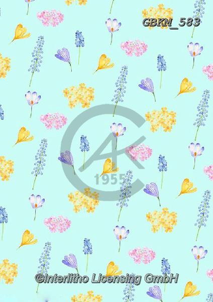 Kate, GIFT WRAPS, GESCHENKPAPIER, PAPEL DE REGALO, paintings+++++Spring flower repeat 2.,GBKM583,#gp#, EVERYDAY