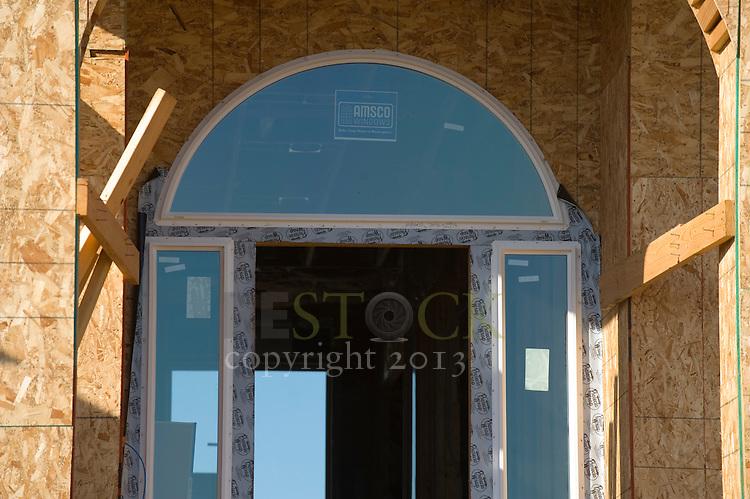 Constructing Glass Doorway