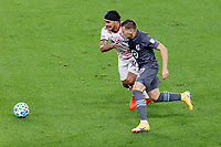 ST PAUL, MN - SEPTEMBER 27: Robin Lod #17 of Minnesota United FC and Marcelo Silva #30 of Real Salt Lake battle for the ball during a game between Real Salt Lake and Minnesota United FC at Allianz Field on September 27, 2020 in St Paul, Minnesota.
