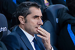 FC Barcelona Head Coach Ernesto Valverde during the La Liga 2017-18 match between FC Barcelona and RC Celta de Vigo at Camp Nou Stadium on 02 December 2017 in Barcelona, Spain. Photo by Vicens Gimenez / Power Sport Images