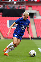 29th August 2020; Wembley Stadium, London, England; Community Shield Womens Final, Chelsea versus Manchester City; Magdalena Eriksson of Chelsea Women brings the ball forward