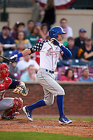 Lexington Legends third baseman Logan Davis (6) at bat during a game against the Hagerstown Suns on May 22, 2015 at Whitaker Bank Ballpark in Lexington, Kentucky.  Lexington defeated Hagerstown 5-1.  (Mike Janes/Four Seam Images)