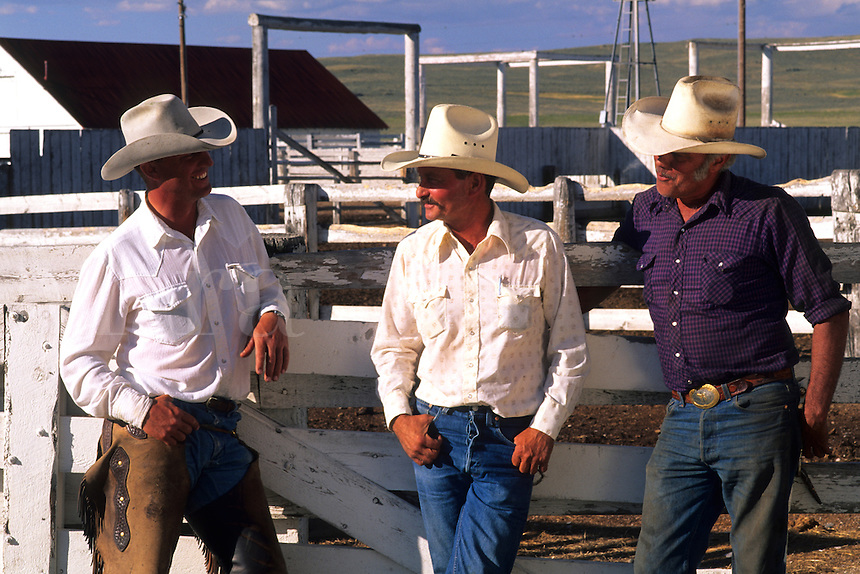 Cowboys Portrait of western lifestyle in Wyoming US