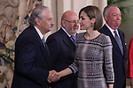 "Queen Letizia of Spain during a Royal Audience with ""HISPANIA NOSTRA"" association representatives at Zarzuela Palace in Madrid, Spain. April 30, 2015. (ALTERPHOTOS/Victor Blanco)"
