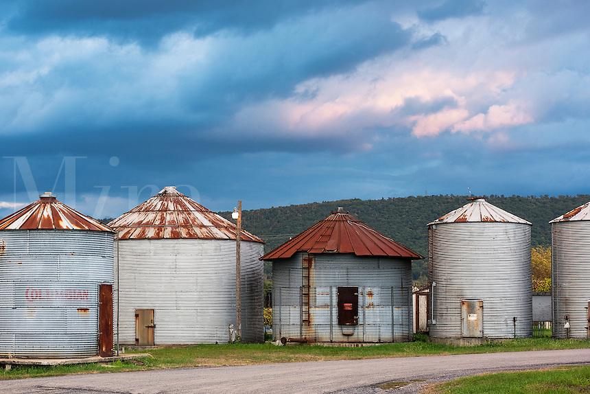 Storage silos, Pennsylvania, USA