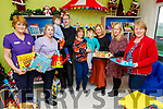 Presentation of books, and toys from the Raheen Play Group from Killarney to the Cashel Ward in UHK on Saturday.<br /> L to r: Kathleen Broderick, Mairead O'Connor, Jack and Sean Barry, Darragh and Valerie Foley, Lorena O'Connor, Joanna Slattery and Bina O'Leary.