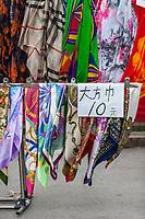 Suzhou, Jiangsu, China.  Scarfs for Sale, Tiger Hill.