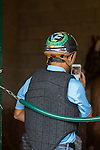 DEL MAR,CA-AUGUST 21: Victor Espinoza takes a photo of California Chrome at Del Mar Race Track on August 21,2016 in Del Mar,California (Photo by Kaz Ishida/Eclipse Sportswire/Getty Images)