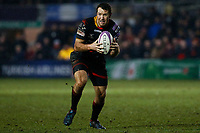 Adam Warren of Dragons carries the ball forwards during the European Challenge Cup match between Dragons and Bordeaux Begles at Rodney Parade, Newport, Wales, UK. 20 January 2018